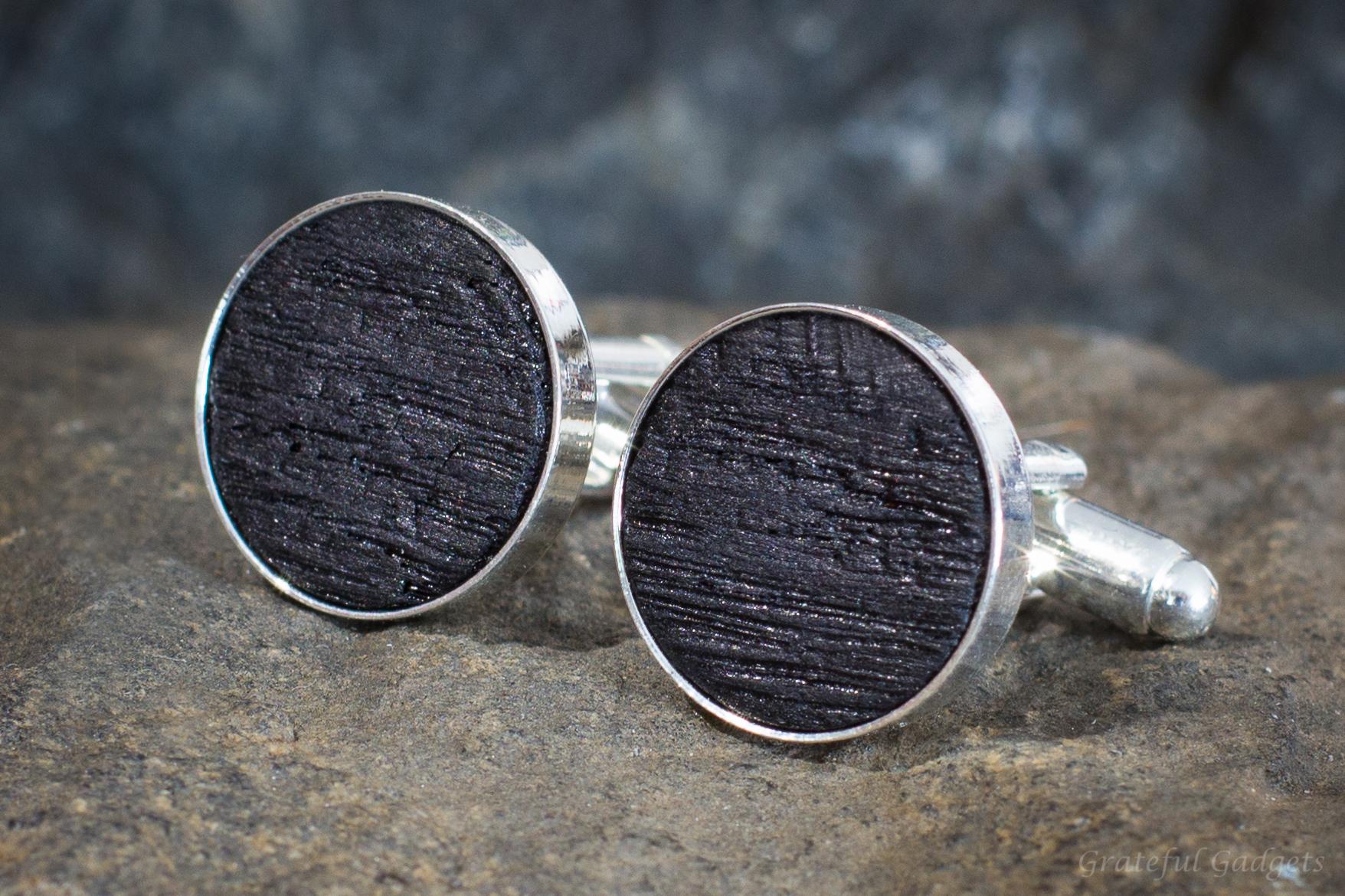 Wood Cufflink Set Handmade Wooden Cuff Links Handmade Cufflinks Whiskey Barrel Cufflinks Wood Cufflinks for Him Men/'s Gifts